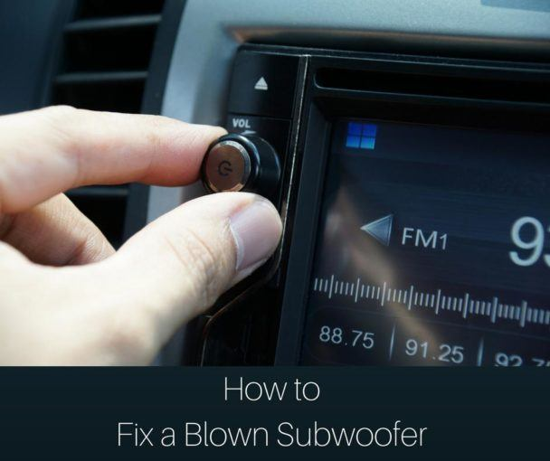 How to Fix a Blown Subwoofer