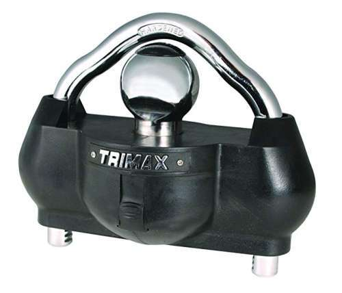 Trimax UMAX100 Premium Universal Solid Hardened Steel Trailer Lock best trailer coupler lock