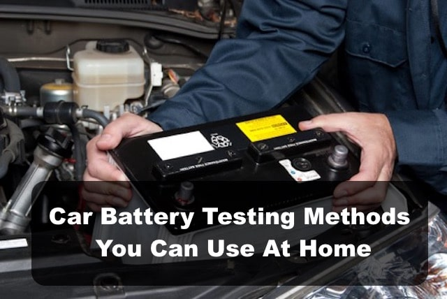 DIY Car battery testing methods