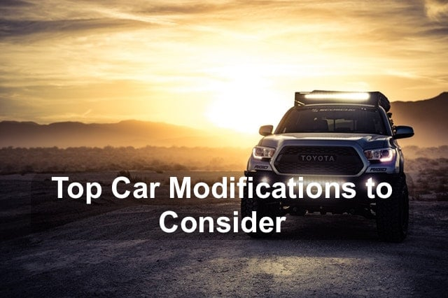 Top car modifications to consider