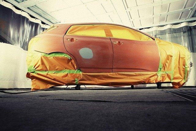 how to paint a car orange