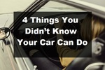 Things You Didn't Know Your Car Can Do